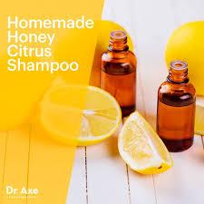 homemade honey citrus shampoo dr axe