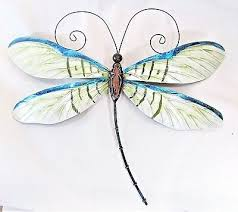 sculptures figurines dragonfly metal