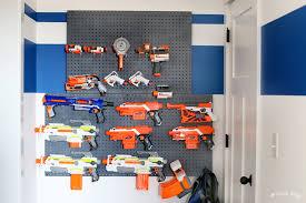 nerf wall storage organization