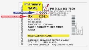 Prescription Label Template Medication Label Template Prescription Bottle Label Template