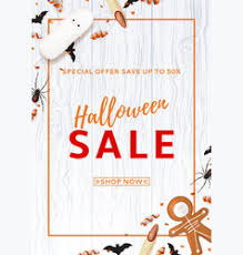 halloween sale flyer halloween sale flyer royalty free vector image