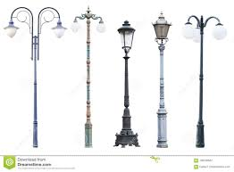 Vintage Outdoor Light Posts Real Vintage Street Lamp Posts And Lanterns Isolated On