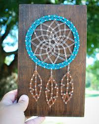 How To String Dream Catcher MADE TO ORDER Dream Catcher String Art wood Sign Native 6