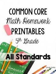 th grade common core math assessments assessment track and math 5th common core math homework printables