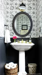 Powder Room Wallpaper Black And White Tile Wallpaper Powder Room Hymns And Verses