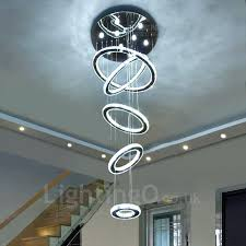 modern led chandeliers 5 rings modern led crystal ceiling pendant light indoor chandeliers home hanging down