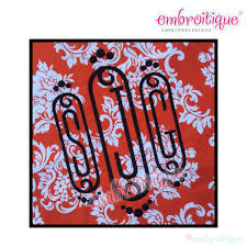cameo decorative initial monogram set small 2 3 4 sizes included embroidery alphabet font letters