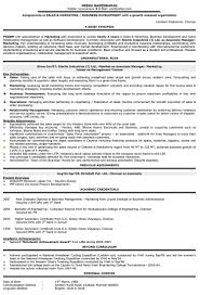 Cover Letter Sales And Marketing Resume Samples Executive Free