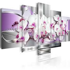 5 pieces canvas photo prints purple orchid wall art picture canvas paintings home decor pictures for on orchids wall art with 5 pieces canvas photo prints purple orchid wall art picture canvas