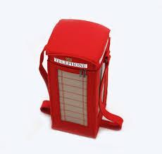 Borsa di feltro cabina di telefono rossa di londra