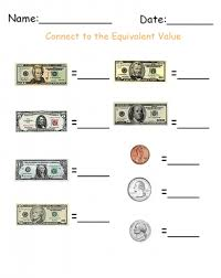 Write The Denomination Money Printable Worksheets Give A