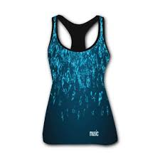 Onecup Blue Notes Falling Down Stretch Casual Tank Tops For
