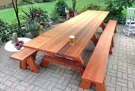 heritage large wooden picnic table