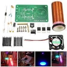 <b>Transparent Acrylic</b> Case Box <b>Shell</b> DIY <b>Kit</b> for ZVS Tesla Flyback ...