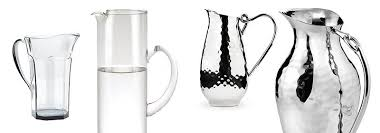 Decorative Water Pitchers Decorative Water Pitchers in Glass Stainless Steel and Acrylic 50