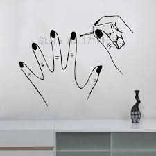 nails beauty salon wall stickers art