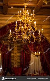 Große Schöne Kronleuchter Gold Farbe Hohe Schöne