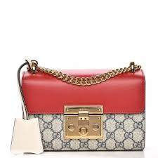 gucci bags 2016 prices. gucci gg supreme monogram small padlock shoulder bag red beige gucci bags 2016 prices