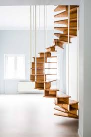 Decorations:Interesting Wooden Slim Hanging Spiral Staircase Design In  Modern Apartment Decoration Idea Aesthetic Appeal