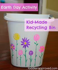 make your own trash can. Simple Own Earth Day Activity KidMade Recycling Bin Throughout Make Your Own Trash Can