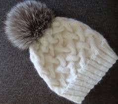Free Knitted Hat Patterns On Circular Needles Amazing Free Knitting Pattern For Winter Cable Hat With Pompom Hats