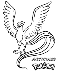 Small Picture Articuno Pokemon Coloring Pages GetColoringPagescom