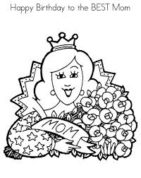 Happy Birthday Mommy Free Coloring Pages To Print