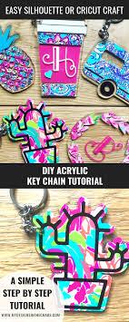 Key Cutting Designs Diy Acrylic Key Chain With Adhesive Vinyl Cricut Stuff