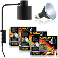 exo terra sunray light fixtures with ballast metal halide bulb