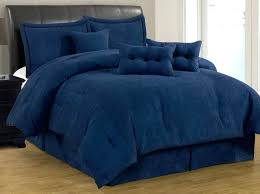 blue king size comforter sets 7 solid navy micro suede set cal new 5 light