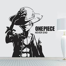 new arrival one piece luffy cartoon wall stickers vinyl wall art wallpaper home decoration mural wall stickers