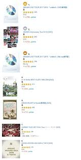 Oricon Chart Ranking Arashi Dominates Amazon Jps Dvd Rankings Old Releases