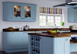 Blue Gray Kitchen Cabinets Elegant Traditional Ocean Blue Painted
