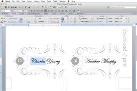 Place Card Template Microsoft Word Nfljerseysweb Com