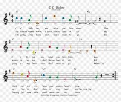 Guitar Notes Chart Easy Guitar Sheet Music For Cc Rider Featuring Dont Sheet