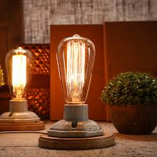 edison table lamp vintage home lighting. Vintage Table Lamp Dimmable Study Desk Bedroom Reading Light Edison Abajur Luminaria Office Kiven Home Lighting A