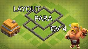Layout Cv 4 Hibrido Clash Of Clans Youtube