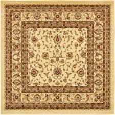 voyage cream 6 x 6 square rug