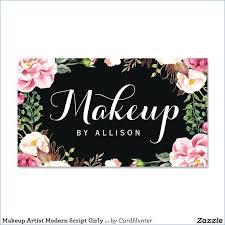 nice free makeup artist business cards s business card ideas