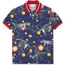 gucci polo. gucci space animals print polo