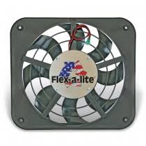 flex a lite automotive 12 volt electric fans electric fans 12 1 8 inch lo profile s blade puller electric fan