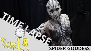 spider dess makeup time lapse scare la 2017 ei makeup
