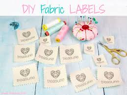 How Do You Design Your Own Fabric Make Your Own Clothing Labels Diy Fabric Labels Cheaply
