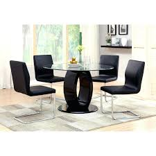 White Gloss Dining Table And Chairs Uk Furniture Contemporary Piece Counter  Height High Round Set Black
