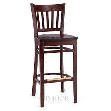 dark mahogany furniture. Dark Mahogany Wood Vertical-Back Commercial Bar Stool With Solid Beechwood Seat Furniture