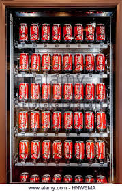 Vending Machine Background Fascinating Soft Drink Cans In Vending Machine Stock Photo 48 Alamy