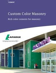 Lafarge Mortar Color Chart Color Cements For Masonry Lafarge Pdf Catalogs