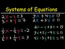 how to solve systems of equations by