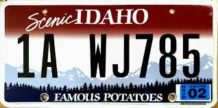 Idaho County Light And Power Vehicle Registration Plates Of Idaho Wikipedia
