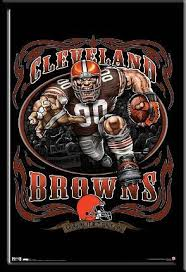 It Out Poster Browns Grinding Picture Nfl Mascot Cleveland Framed